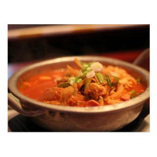 Cartão Postal Kimchi Jjigae (sopa)