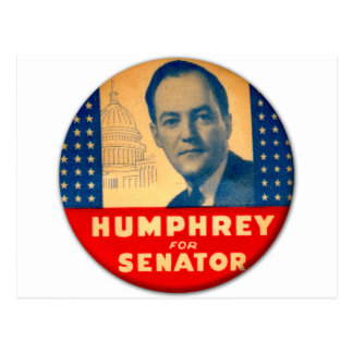 Cartão Postal Kitsch retro Humphrey do vintage para o botão do