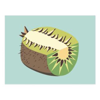Cartão Postal Kiwi fruit illustration