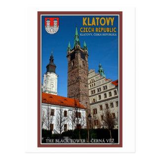 Cartão Postal Klatovy - a torre preta