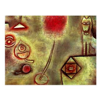 Cartão Postal Klee - ainda vida com estatueta animal