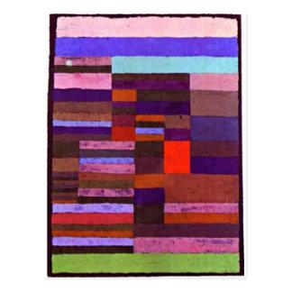 Cartão Postal Klee - Altimetry particularizado de Stripes-1930