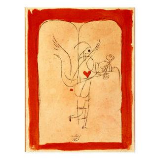Cartão Postal Klee - um espírito serve um pequeno almoço pequeno