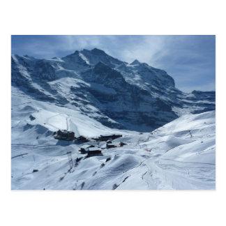 Cartão Postal Kleiner Scheidegg e o Jungfrau