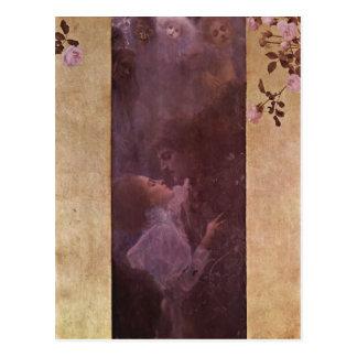 Cartão Postal Klimt, Gustavo morre a técnica 1895 de Liebe? l