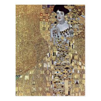 Cartão Postal Klimt, Gustavo Portr? der Adele Bloch-Bauer de t