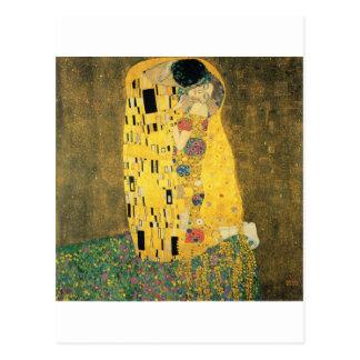 Cartão Postal Klimt - o beijo