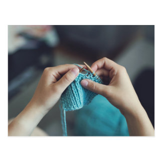 Cartão Postal knitting