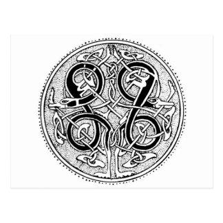 Cartão Postal Knotwork celta