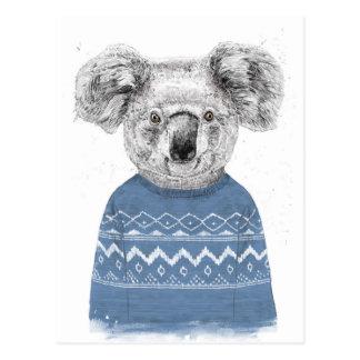 Cartão Postal Koala do inverno