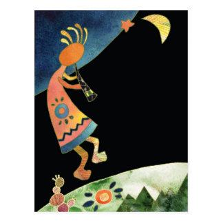 Cartão Postal Kokopelli artístico