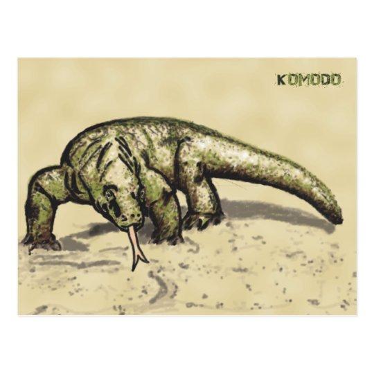 Cartão Postal Komodo