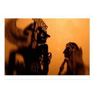 Cartão Postal Kulit de Wayang dos fantoches da sombra