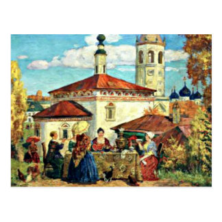 Cartão Postal Kustodiev - no Suzdal velho