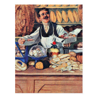 Cartão Postal Kustodiev - padeiro
