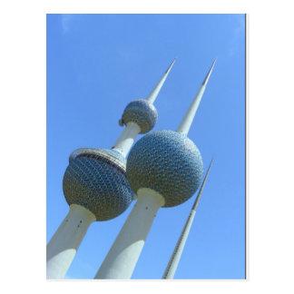 Cartão Postal Kuwait eleva-se o símbolo de Kuwait
