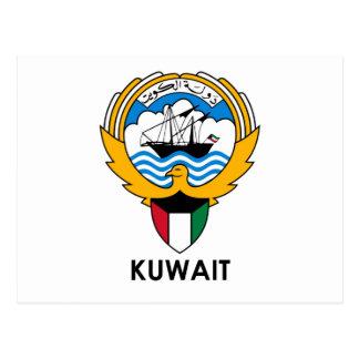 Cartão Postal KUWAIT - emblema/bandeira/brasão/símbolo