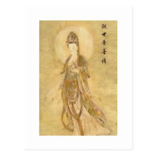 Cartão Postal Kwan Yin a deusa da piedade