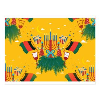 Cartão Postal Kwanzaa amarelo
