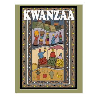 Cartão Postal Kwanzaa - frutas e legumes