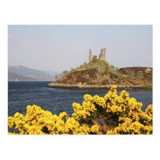 Cartão Postal Kyleakin, Scotland. As ruínas antigas de 2