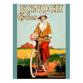 Cartão Postal Kynoch Cycyles - arte do poster da bicicleta do
