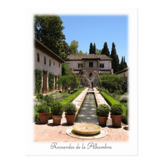 Cartão Postal La Alhambra de Recuerdos de