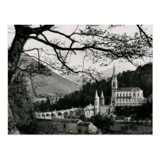 Cartão Postal La Basilique, vintage de Lourdes, France