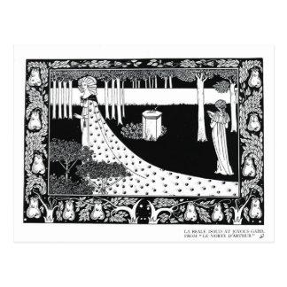 Cartão Postal La Beale Isoud em Gard feliz, ilustração de '