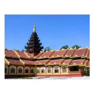 Cartão Postal La Burmese Keng de Phra Jow do templo budista