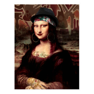 Cartão Postal La Chola Mona Lisa