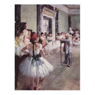 Cartão Postal La classe de danse (a classe de dança)