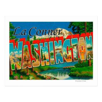 Cartão Postal La Conner, Washington - grandes cenas da letra