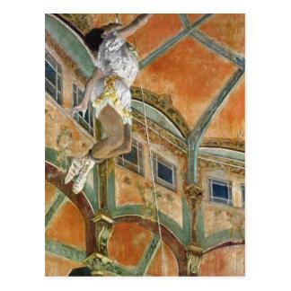 Cartão Postal La da senhorita La de Edgar Degas | no Cirque