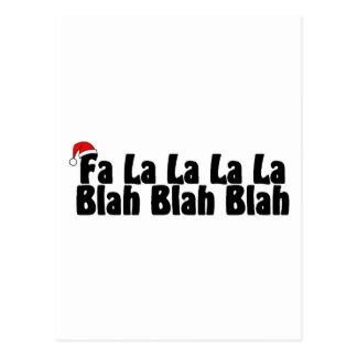 Cartão Postal La do La do La do La do Fa blá - blá