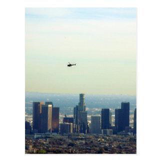 Cartão Postal LA e helicóptero