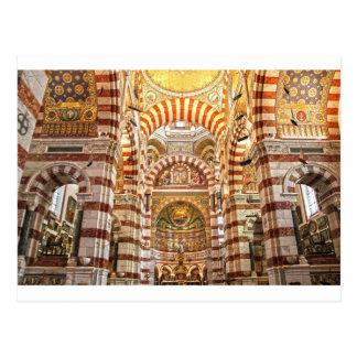 Cartão Postal La garde de Notre Dame de da catedral em Marselha