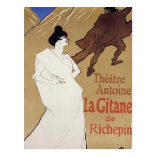 Cartão Postal La Gitane de Henri de Toulouse-Lautrec o cigano