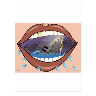 Cartão Postal Lábios fracos, navios do dissipador