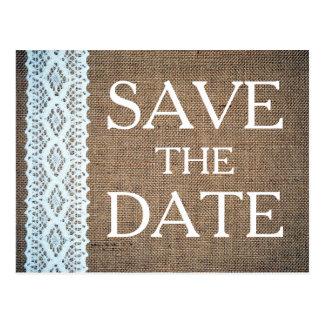 Cartão Postal Laço do Crochet do algodão & economias rústicas de