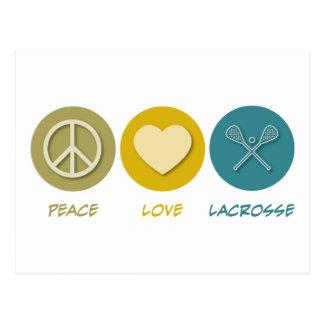 Cartão Postal Lacrosse do amor da paz