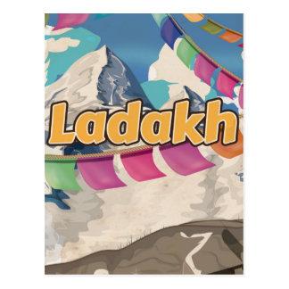 Cartão Postal Ladakh, poster das viagens vintage de India