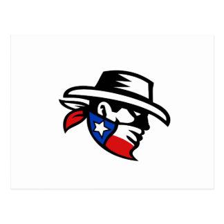 Cartão Postal Lado do vaqueiro do bandido de Texas retro