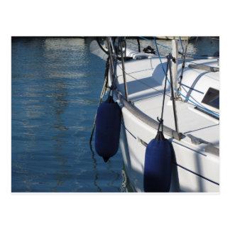 Cartão Postal Lado esquerdo do barco de navigação com os dois