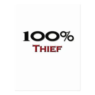Cartão Postal Ladrão de 100 por cento