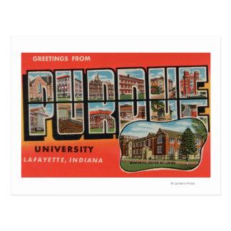 Cartão Postal Lafayette, Indiana - universidade de Purdue