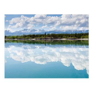 Cartão Postal Lago calmo Laberge