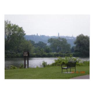 Cartão Postal Lago Cayuga em Ithaca, New York