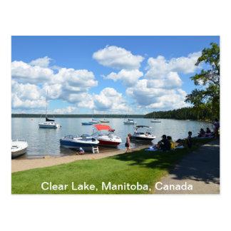 Cartão Postal Lago claro, parque nacional, Manitoba, Canadá