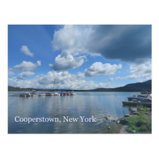 Cartão Postal Lago Cooperstown New York Otsego